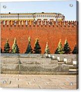 The Kremlin Wall - Square Acrylic Print