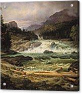 The Labro Falls At Kongsberg Acrylic Print