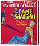 The Lady From Shanghai, Us Poster Art Acrylic Print