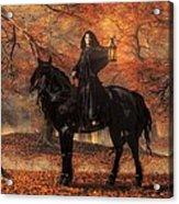 The Lady Of Halloween Acrylic Print