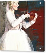 The Lady With The Violin Acrylic Print