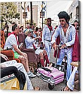 The Laissez Boys At Running Of The Bulls In New Orleans Acrylic Print