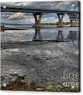 The Lake Champlain Bridge From Cown Point Acrylic Print