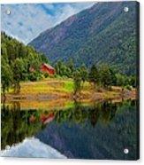The Lake House Norway Acrylic Print