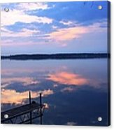 The Lake Is A Mirror Acrylic Print