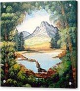 The Lake Path Acrylic Print
