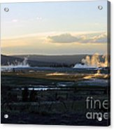 The Land Of Geysers. Yellowstone Acrylic Print