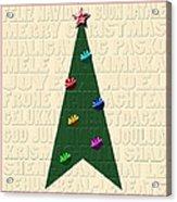 The Language Of Christmas Acrylic Print