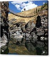 The Last Inca Rope Bridge Acrylic Print