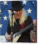 The Late Great Johnny Winter Acrylic Print