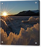 The Late Season Suns Skims Acrylic Print