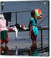 The Laundry - Nepal Acrylic Print