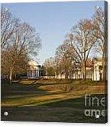The Lawn University Of Virginia Acrylic Print
