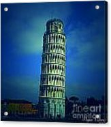 The Leaning Tower Of Pisa Italy Acrylic Print