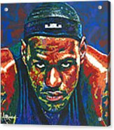 The Lebron Death Stare Acrylic Print