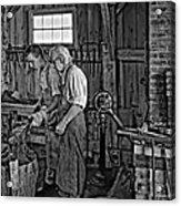 The Lesson Monochrome Acrylic Print by Steve Harrington