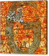 The Letter G With Lichens Acrylic Print