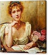The Letter  Acrylic Print by George Goodwin Kilburne