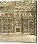 The Library, Engraved By Godfrey Acrylic Print