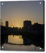 The Liffey River In Morning - Dublin Ireland Acrylic Print