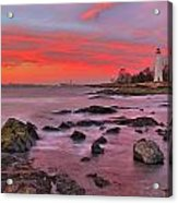 The Light House In New Haven Acrylic Print
