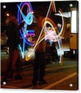 The Light Jugglers Acrylic Print by Steve Taylor