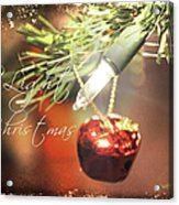 The Light Of Christmas Acrylic Print