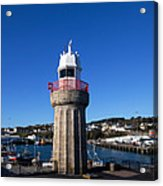 The Lighthouse And Fishing Harbour Acrylic Print