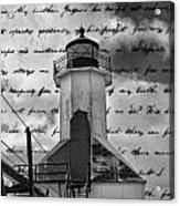 The Lighthouse Poem Acrylic Print