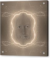 The Lightning Man Sepia Acrylic Print