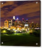 The Lights Of Philadelphia Acrylic Print