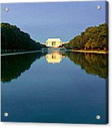 The Lincoln Memorial At Sunrise Acrylic Print