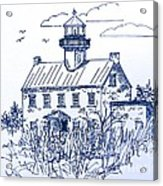 The Lines Of East Point Light In Blue Acrylic Print