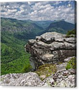 The Linville Gorge From Shortoff Acrylic Print