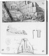 The Lion Gate At Mycenae  Represents Acrylic Print