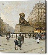 The Lion Of Belfort Le Lion De Belfort Acrylic Print by Eugene Galien-Laloue