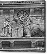 The Lion Of Saint Mark Acrylic Print by Lee Dos Santos