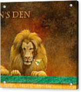 The Lion's Den... Acrylic Print by Will Bullas