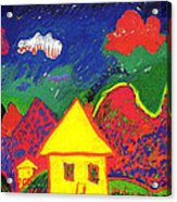 The Little House In The Montains Acrylic Print