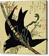 The Little Raven With The Minamoto Clan Sword Acrylic Print