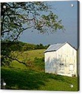 The Little White Barn Acrylic Print