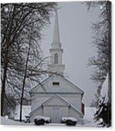 The Little White Church Acrylic Print