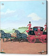 The Liverpool And London Royal Mail Coach, 1812 Oil On Canvas Acrylic Print