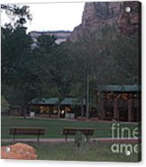 The Lodge At Zion National Park Acrylic Print