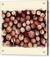 The Log Pile Acrylic Print