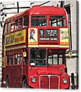 Vintage London Bus Acrylic Print