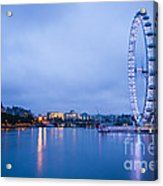 The London Eye Dawn Light Acrylic Print by Donald Davis