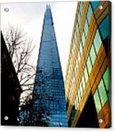 The London Shard In Blue No2 Acrylic Print