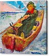 The Lone Boatman Acrylic Print
