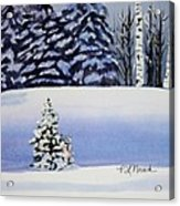 The Lone Christmas Tree Acrylic Print